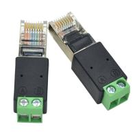 RJ45 Network Male 8P8C to RS485 Screw Terminal Block Adapter