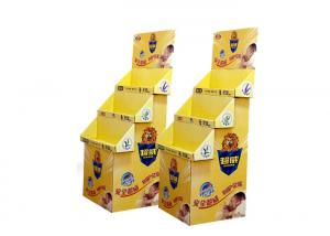 China Yellow Bread Cardboard Display Stands , Cardboard Display Shelves For Shop on sale