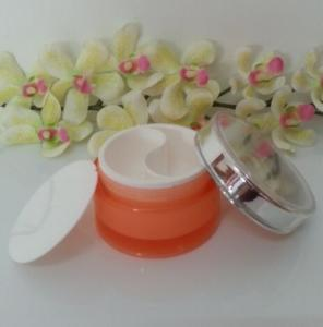 Quality cosmetic inner divided jars with two compartments,cosmetic round Jar with sliver for sale