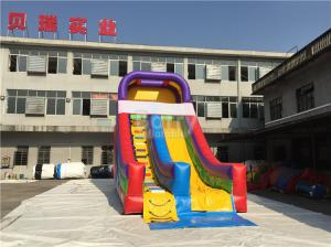 China Rainbow Commercail Inflatable Slide For Kids With Full Printing on sale