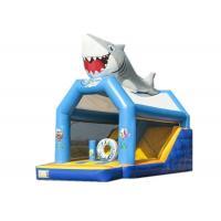 Big Shark Inflatable Kids Jump House , Professional Shark Bounce House Rental