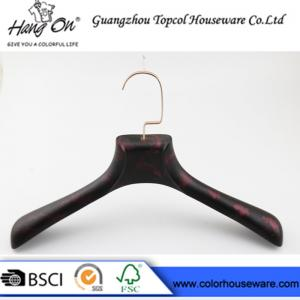 China Rose Gold Metal Hook Modern Clothes Hangers With Smooth Surface on sale