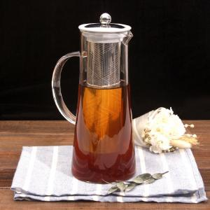 China Hot sales glass cold brew coffee pot with ss lid on sale