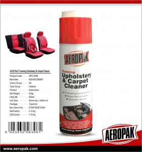 China AEROPAK 500ML aerosol spray can Upholstery and Carpet Cleaner on sale