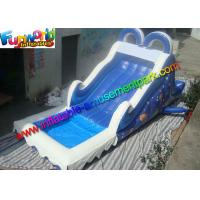 Commercial PVC Tarpaulin Blue Kids Water Slide Inflatable Water Game Toys