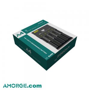 Amorge A4 4 bay 18650 battery charger best charger 0 5A vape charger