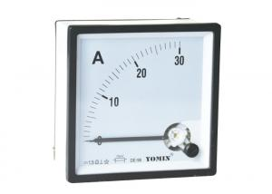 China 96 * 96 Moving Iron Instrument Analogue Panel Meters , AC Ammeter / Current Meter on sale