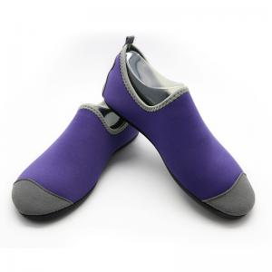 Quality Heel Reinforced Winter Footwear For Ladies Durable Purple Lined Pattern for sale