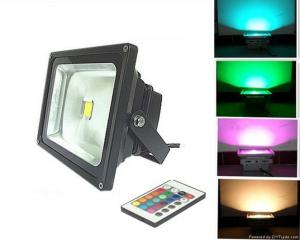 China 10W waterproof IP65 RGB LED flood light with IR remote control CE ROHS approved on sale