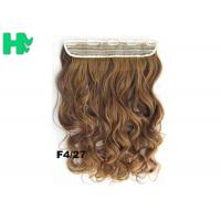 China 22 Inch Gold Clip In Synthetic Curly Hair Extensions With Body Wave on sale