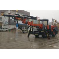China Wheel Type Tunnelling Drilling Rig Machine , Hard Rock Deep Hole Drilling Machine on sale
