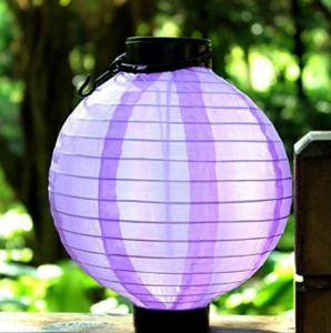 China 5 Lumens Solar fabric Lantern / Solar Powered Fabric Lanterns For Garden / Patio on sale