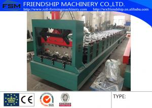 China 1.2-2.0mm Thickness Galvanized Steel Metal Deck Roll Forming Machine With 900mm Width 3Phase on sale