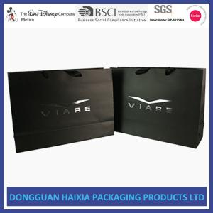 China Luxury Colored Paper Bags , Paper Shopping Bags With Handles Free Sample on sale