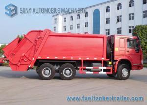 China Heavy Duty 15000L 15M3 HOWO Garbage Trucks 6 X 4 WP10.300NE31 Engine on sale
