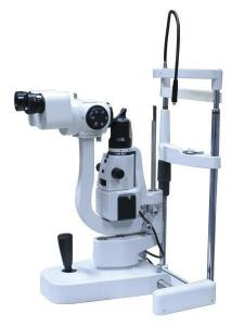 China Galilean Stereoscope Slit Lamp Microscope Five Step Drum Magnification on sale