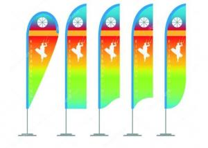 China Colorful Personalized Advertising Flags , Vertical Roadside Flags And Banners For Businesses on sale