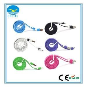 China China wholesae Populat Colourfule flat noodle micro usb data cable on sale