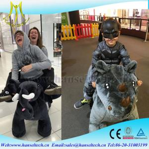 China Hansel   plush ride on unicorn toy battery charge electric animal kiddie rides for shopping mall on sale