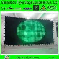 China p18 6x2m new product rgb full color flexible led curtain price on sale