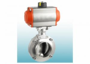 China AISI 316L Stainless Steel Sanitary Valves With Double Acting Pneumatic Actuator on sale