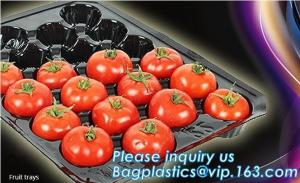 China plastic plant vegetable nursery high quality seedling trays wholesale,98/105/128 cell holes vegetable plant seedling pla on sale