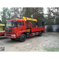 DRZ 4x2 chufeng lorry truck mounted crane 6T  telescopic boom Hydraulic ladder loading excavator cell:8615271357675