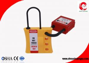 China Yellow Plastic Safety Lockout Hasp with 3mm Lock Shackle Diameter 4 Padlocks Allow on sale