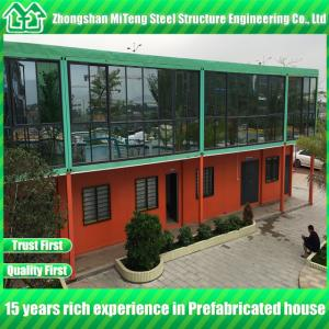 China Prefab container house Luxury house container office with  Glass wall on sale