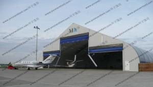 China Outdoor Aircraft Hangar Tent , Temporary Garage Tent High Level Industrial Door Design on sale