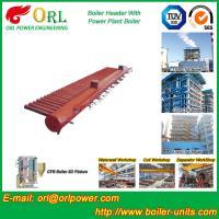 China Structure électrique en acier de tube de l'eau d'en-tête de vapeur de chaudière d'en-tête de chaudière de la basse pression CFB on sale