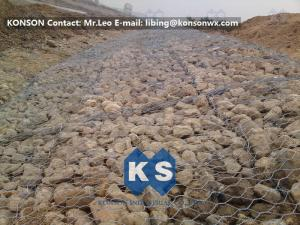 China Metal Wire Mesh Gabion Box Stone Cage , Galvanized Welded Gabion Wire Mesh on sale