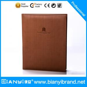 China Latest Hotel leather Guest registration clip on sale