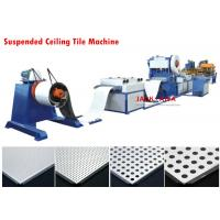 China Suspended Ceiling Tile Forming Machine , Aluminum Tile Maker Machine on sale