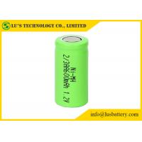 OEM / ODM 2/3AA 1.2 V 600mah Battery , Nickel Metal Hydride Rechargeable Battery
