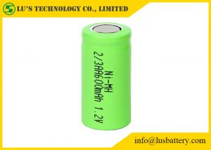 China OEM / ODM 2/3AA 1.2 V 600mah Battery , Nickel Metal Hydride Rechargeable Battery on sale