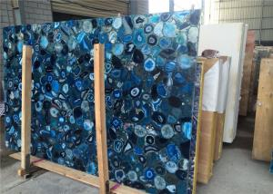 China 2cm Thickness Natural Blue Agate Slab For Mall Decoration CE Certificated on sale