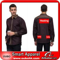Mens Shirts With High-Tech Electric Heating System Battery Heated Clothing Warm OUBOHK