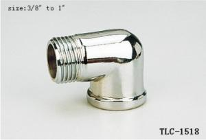 China TLC-1518 1/2-2Female Male brass elbow chrome plated NPT copper fittng water oil gas mixer matel plumping joint on sale