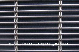 China Modern Industrial  Woven Metal Mesh With Metal Fabric For Architectural Decoration on sale