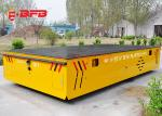 Battery Operated Flatbed Trackless Transfer Cart With Dead Man Stop 1 -500T Load Capacity