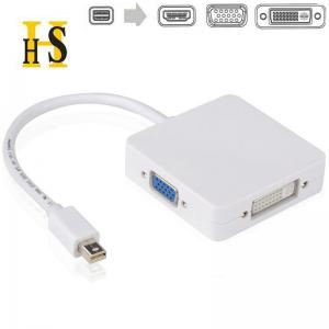 China Mini DP to HDMI/ VGA/ DVI 3 in 1 converter cable for Apple / MacBook Pro,display port to hdmi vga on sale