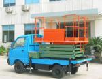 11 meters automobile truck mounted scissor lift heavy load aerial working platform