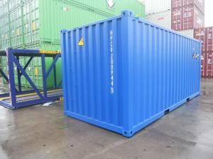 China 20 Foot Steel Shipping Containers , DNV Standard Shipping Container Custom Color on sale