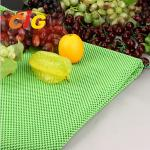 Workshop Floor / Supermarket PVC Fruit Mat Black Vegetable Mat Width 164CM