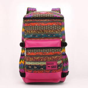 China Large Capacity and Multi-Color National Color Fabric Backpacks on sale