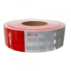 China White And Red DOT-C2 Truck Self Adhesive Reflective Tape on sale