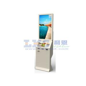 China Dual Screen Self-checkin Systems Kiosk With Industrial Fanless Mini PC on sale