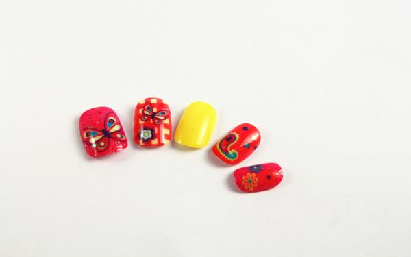 Cute Pretty Kids Fake Nails Butterfly Diy Nail Art For Children