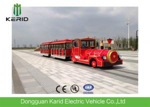China Zero Emission Amusement Park Electric Trains 42 Passengers 13.5KW Rated Power Motor on sale